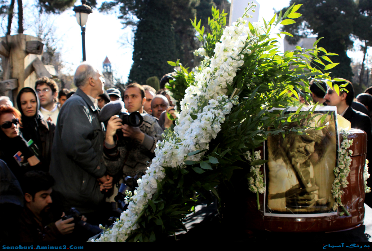 مراسم خاکسپاری جلال ذوالفنون